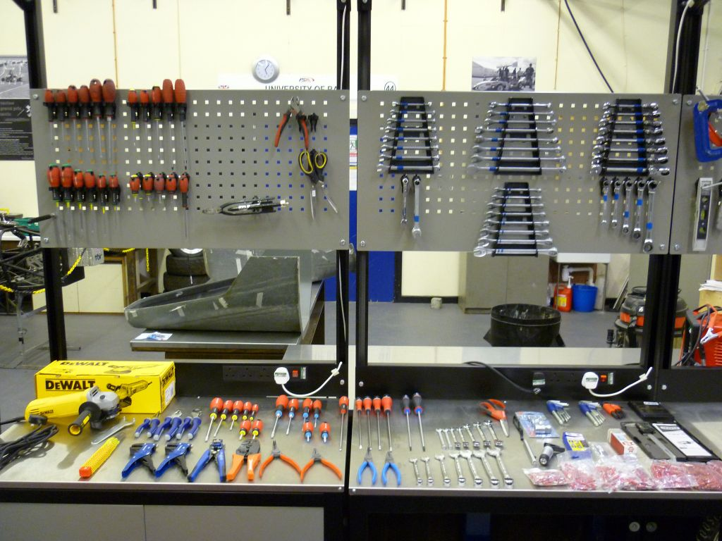 workbench ideas for small garage - ASSORTED TOOLS